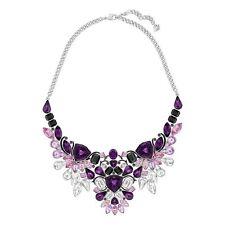 Swarovski Necklace Impulse  Large Palladium Crystals Black Epoxy