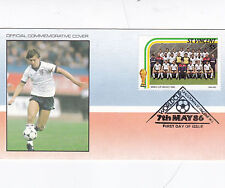 St Vincent 1986 World Cup Mexico ENGLAND FDC Unadressed