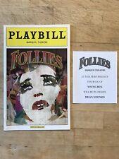 FOLLIES Sep 2011 Broadway OPENING NIGHT Playbill! BERNADETTE PETERS Elaine Paige