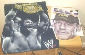 John Cena WWE Vintage Black John Cena WWE Champ Youth XL T-Shirt