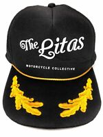 The Litas Motorcycle Collective Snap Back Mesh Trucker Hat Black Woman Adjustabl