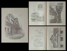 ARRAS, ECOLE BEAUX ARTS  - GRAVURES ARCHITECTURE 1890 - COUTURAUD