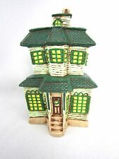 Vintage1980s Christmas Village House Ceramic USA Model Railroad Hand Painted