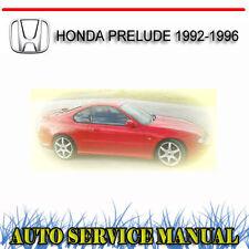 HONDA PRELUDE 1992-1996 SERVICE REPAIR MANUAL ~ DVD