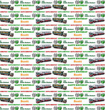 Personalised Gift Wrapping Paper EDDIE STOBART  Birthday Sheet Any Name ESB1