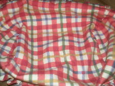 Longaberger Small Mail Basket Liner - Cherry Red Plaid