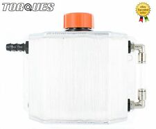 Torques 1 Litre 12mm Barbed Oil Breather Catch Tank Can Brushed Aluminium