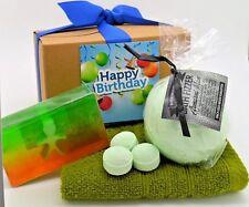 Hombres Cesta de Regalo Caja de Regalo Regalo de Cumpleaños Papá Marido Armani bomba de baño y jabón