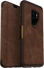 OtterBox Strada Folio Case Samsung Galaxy S9+ Plus Espresso Leather Flip Cover