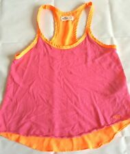 Hollister California Two Tone Top Size XS Orange Pink