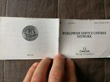 Booklet Omega speedmaster pro circa 1999