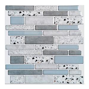 Art3d 10sheets Peel & Stick Brick Kitchen Backsplash Self-Adhesive Wall Tile