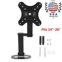 Full Motion TV Wall Mount Bracket Tilt Swivel LED LCD Flat Screen TV Fits 14-26""