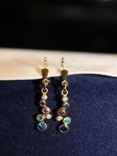 Hinreißende Ohrringe: Rubine Saphire Diamanten Smaragde Gold 585/2,75g neuwertig