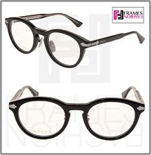 d3da9e16cc GUCCI 0071 Titanium Black Silver RX Eyeglasses Optical Frame GG0071O  Authentic