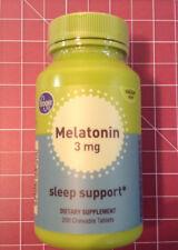 200 count Melatonin 3mg chewable tablets Exp - 01/21 - Sleep Support