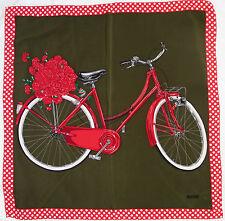 "-Superbe Foulard  MOSCHINO "" la bicyclette"" 100% soie  TBEG  vintage scarf"