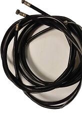 Cable de engranaje libre de fricción ukscooters Vespa Negro Exterior Interior X 2 nuevo PX LML T5 PK