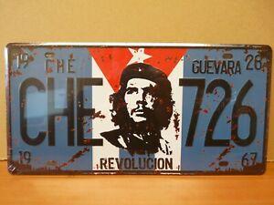 PA124F PLAQUES TOLEE 15 X 30 cm : CHE Guevara 726 avec Relief