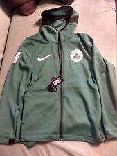 NBA Boston Celtics NIKE Dri-Fit Showtime Full Zip Green Hoodie Jacket Mens LARGE