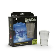 Set of 4 - 2 piece Shot Glasses Plastic Great  with Dry Ice, Candy, Fruit
