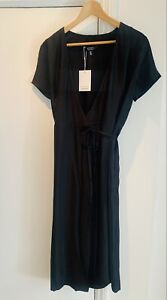 & Other Stories Black Wrap Dress Size 14
