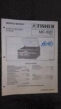 Fisher mc-620 service manual original repair book stereo turntable system