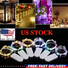 6PCS 20LED Battery Operated Micro Rice Wire Copper Fairy String Lights Christmas