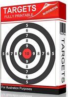 Shooting Targets 1700 Various Practice Air Rifle BB Gun Bow Sling Shot DOWNLOAD