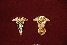 CONTRACT SURGEON OFFICER'S COLLARS PAIR WW2 COPY C IN MEDICAL CADUCEUS