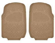 Durable Diamond Grid Pattern Rubber Car Floor Mats Heavy Duty All Weather -Beige