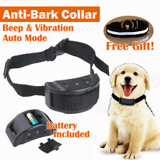 Safe Pet Trainer Automatic Anti Bark Dog Training Collar No Electrcity Harm AU
