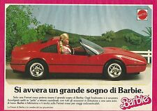 X1119 BARBIE - Ferrari - Mattel - Pubblicità 1989 - Advertising