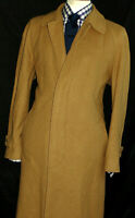 MENS GIEVES & HAWKES SAVILE ROW WOOL & CASHMERE CAMEL JACKET COAT OVERCOAT 42R