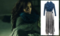 Killjoys Dutch Hannah John-Kamen Production Worn Shirt Skirt & Scarf