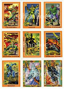 1991 Impel G.I. Joe Series 1 Base Card You Pick the Card Finish Your Set