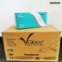 Latex Medical Gloves Non Sterile Single Use Disposable Exam Gloves 1000ct Medium