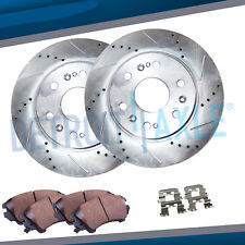 Front Drilled Slotted Disc Brake Rotors & Pads 2008 - 2015 Sierra Silverado 1500