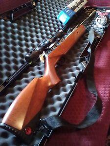 🔥Ruger Impact Elite .22 cal. Air Rifle❗Modified Scope, Gun Case, Pellets🔥🇺🇸