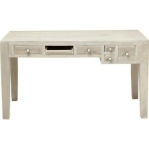 Made to Order Vivid Blanche Contemporary MangoWood Console Hall Table Study Desk