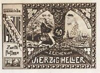 XXX-RARE 1921 ANTISEMITIC NOTGELD CURRENCY: JEW ABSCONDS w GERMANY's HARD MONEY