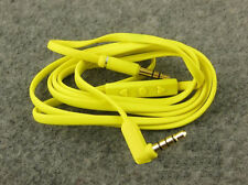 Yellow Audio Cable for Soul SL300 SL150 Beats Solo Stutio Pro Mic Remote Control
