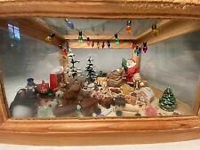 "Artist Made Miniature Christmas Dollhouse Room Box ""Toyland"""