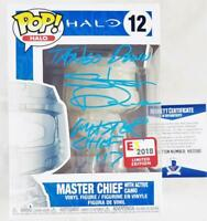 STEVE DOWNES MASTER CHIEF SIGNED E3 EXCLUSIVE FUNKO POP HALO BAS COA 390