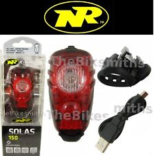 Niterider Solas 150 Red Tail Light USB Rechargable Daylight Visible Bike lamp
