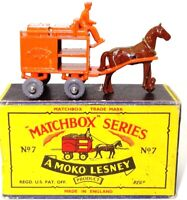 LESNEY MATCHBOX NO. 7 MILK CART - MINT BOXED 'MOKO' GREY WHEELS
