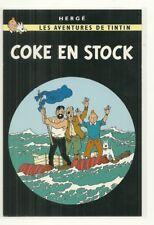 RARE / CARTE POSTALE - TINTIN ET MILOU : COKE EN STOCK / POSTCARD