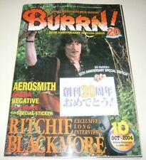 BURRN! 10/04 Japan Magazine Blackmore Aerosmith Silvertide Kotzen Europe poster