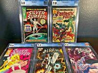 1st Lot SILVER SURFER #1 CGC Fantastic Four Annual 5 1968 1982 1987 Black NM+ 48