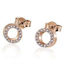Goldmaid Ohrstecker Ohrringe 585 Rotgold 32 Diamanten 0,22 ct. Brillantschliff